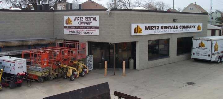 About Wirtz Rentals Co. in Chicago & Summit IL